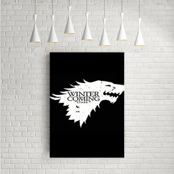 HOUSE STARK WINTER IS COMING GAME OF THRONES ARTWORK POSTERS
