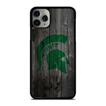 MICHIGAN STATE SPARTANS WOODEN LOGO iPhone Case Cover