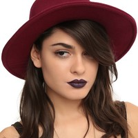 Burgundy Floppy Fedora