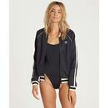 Billabong Women's Locals Only Track Jacket | Off Black