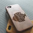 Walnut wood iphone 5 case iphone 5s case fish iphone 5 case i love you