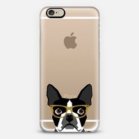 Boston Terrier Hipster Glasses cell phone case for transparent iPhone lovers iPhone 6 case by Pet Friendly | Casetify