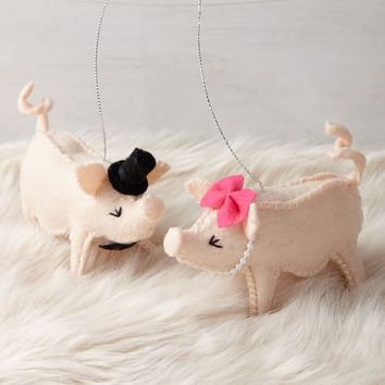 ASPCA® Animal Ornament - Priscilla and Poppleton the Pigs