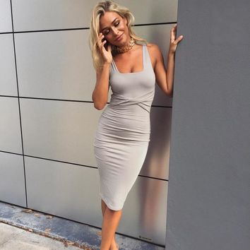 Tank Top Twisted Waist Body-con Dress