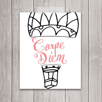Carpe Diem Wall Art - 8x10