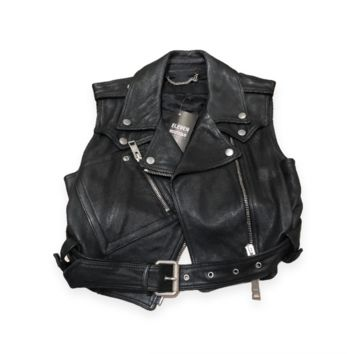 Burberry Leather Cropped Vest