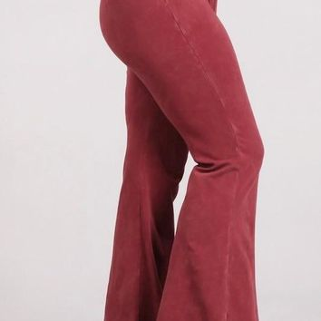 cb8233304dd9b Plus Size Fall Colors Mineral Wash Bell Bottoms