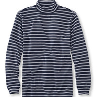 Men's Interlock Mock-Turtleneck, Traditional Fit Stripe | Now on sale at L.L.Bean