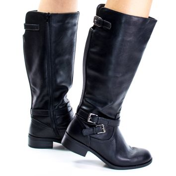 Bio By Soda, Military Equestrian Biker Riding Boots Tall Knee high Soda Shoes Women
