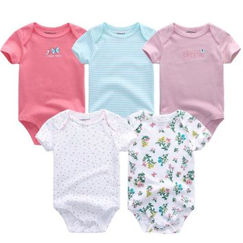 2018 Next baby rompers newborn clothes bebe roupas 0 3 6 9 12 months cotton short sleeve costume Baby Boy girl Clothing sets