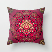 Mix & Match Arabian Nights 1 Throw Pillow by Karma Cases | Society6