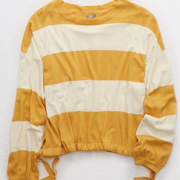 Aerie Side Tie Sweater, Baja Gold
