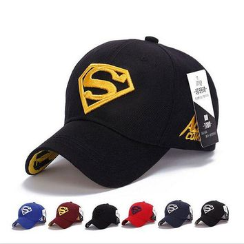 LMFON 2017 NEW Brand SUPERMAN Polo Snapback Mens Baseball Caps Women Fitted Adjustable Hat G