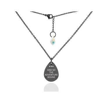 Dainty Teardrop Necklace Made With Crystals From Swarovski By Pink Box