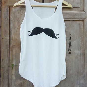 Mustache Tank Top Hipster Tank top women Fitness top Summer Cloth Gift Summer fashion tshirt Vintage tank tops for woman Short Pants