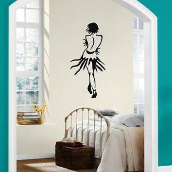 Wall Stickers Vinyl Decal Beautiful Girl in a Skirt Dance Passion Unique Gift (ig1090)