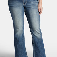 Plus Size - Kaylee Medium Wash Flare Jeans - Medium Sandblast