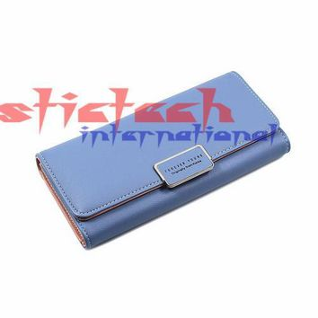 by dhl or ems 100pcs Women Wallets Purse Female Purse Women's Natural Leather Wallets PU Ladies Clutch Phone Bag