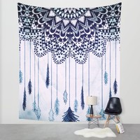 BOHO DREAMS MANDALA Wall Tapestry by Nika