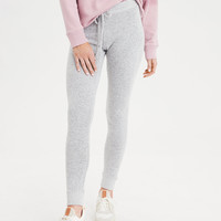 AEO Plush Fleece Sweater Legging, Gray