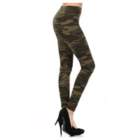 """A Touch of Heaven"" No Peek-a-Boo Camo Print Leggings"