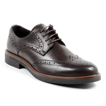 Andrew Charles Iggy Mens Brown Brogue Shoe