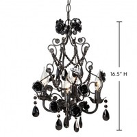 Wake Up Frankie - Large Black Rose Beaded Chandelier : Teen Bedding, Pink Bedding, Dorm Bedding, Teen Comforters