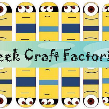 Minion Inspired Nail Wraps 3 designs to choose from