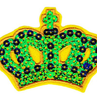 Super Cute Large 8cm Sequins Crown Patch Applique