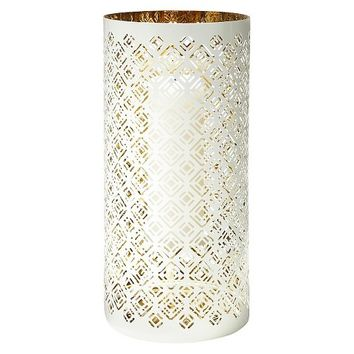 Lilly Pulitzer for Target Bullseye Pierced Metal Candle Holder - White with Gold Interior (14.5)""
