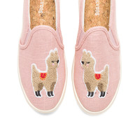 Soludos Llama Slip On Sneaker in Dusty Rose