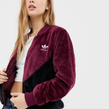 adidas Originals Og Track Jacket In Maroon Borg