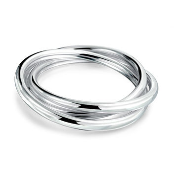 Bling Jewelry Silver Trio Bangles