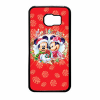 Mickey And Minnie Mouse Disney Christmas Samsung Galaxy S6 Case
