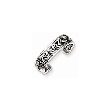 Sterling Silver Antiqued Toe Ring, Best Quality Free Gift Box Satisfaction Guaranteed