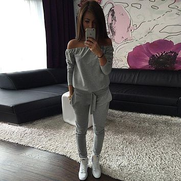 New Fashion Casual Style Women's Autumn Tracksuit Women Hoodies 2-Piece Set Hoodie+Long Pants) Leisure Suits