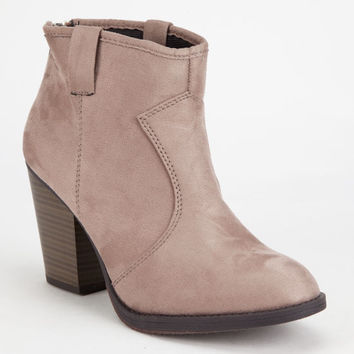 Soda Western Womens Booties Taupe  In Sizes
