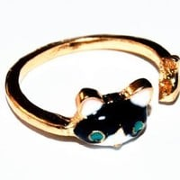 JE266 Super Cute Ring, Personalized Ring, Cat Fish Ring, Fashion Jewelry