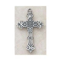 Sterling Silver Cross Necklace Christian Faith Fashion Jewelry Pendant with Stainless Steel Chain