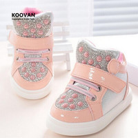 Koovan Children Sneakers 2017 New Kids Children's Shoes Girls Boys Baby Shoes Rhinestone Sequins Sneakers Sports Shoes Toddler