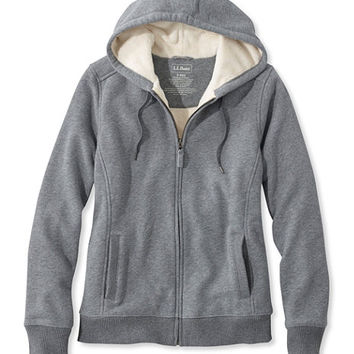 Sweater-Trimmed Sherpa-Lined Hoodie | Free Shipping at L.L.Bean.