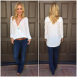 Let It Go Wrap Blouse - WHITE