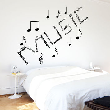 Vinyl Wall Decal Sticker Band Names in Music #5163