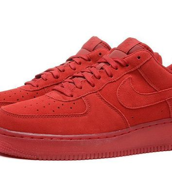 PEAPON Nike Air Force 1 07 LV8 AF1 Red For Women Men Running Sport Casual Shoes Sneakers