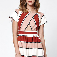 Kendall & Kylie Stripe Off-The-Shoulder Romper at PacSun.com