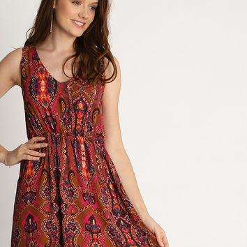 Cordelia Paisley Print Dress | Ruche