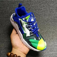 Best Online Sale Nike Air Huarache 3 Kjcrd Royal Blue/Green Bleu/Vert Running Sport Casual Shoes Sneakers - 818061-413