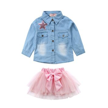 Denim & Pink 2-Piece Tutu Set