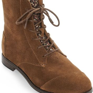 Toms Alpa Brown Suede Boots