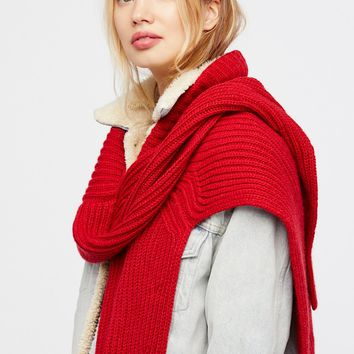Free People Never Say Never Sweater Wrap